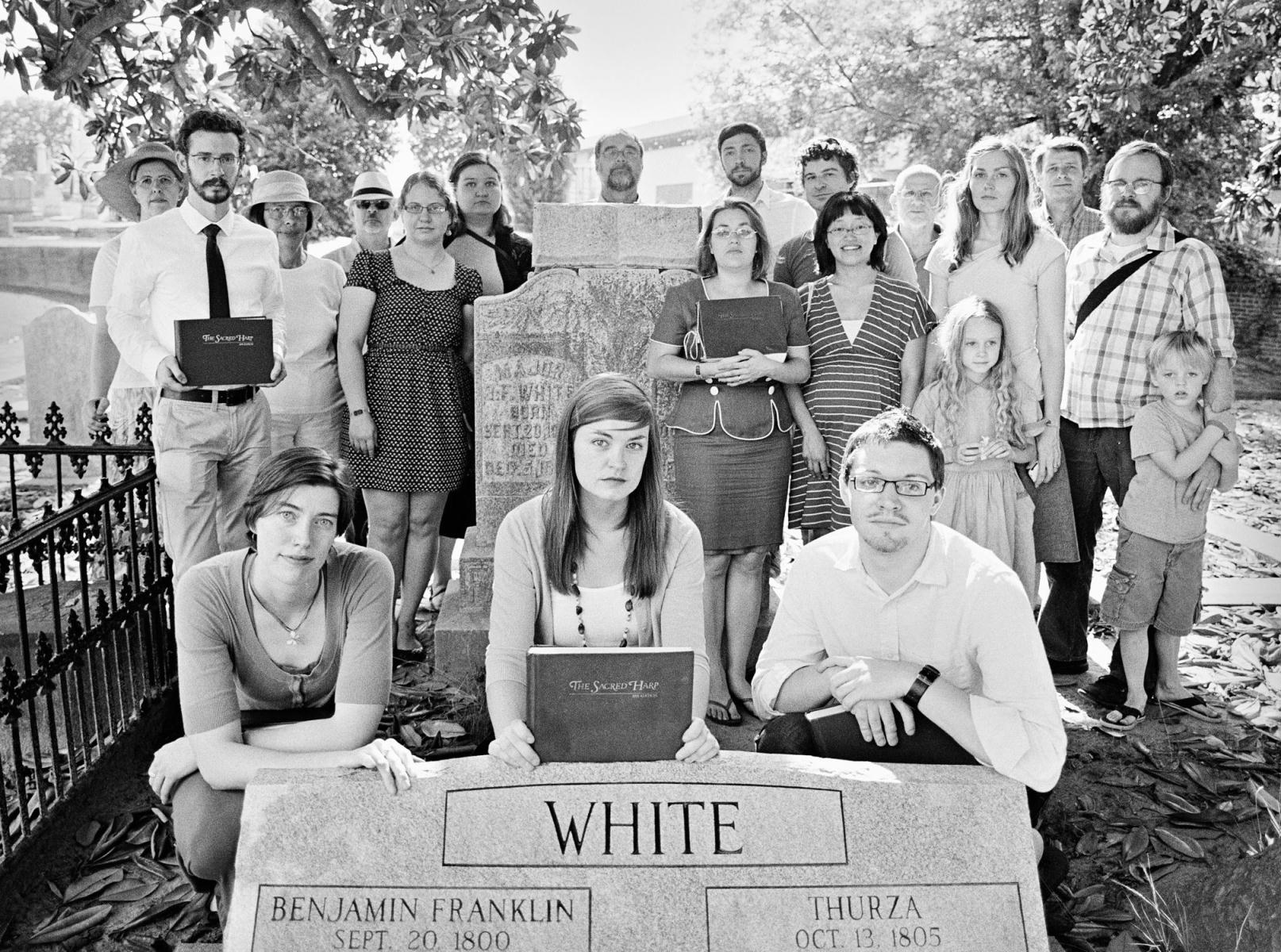 Photo at Oakland Cemetery courtesy of Johnathon Kelso. Only in Atlanta can you sing with <i>Sacred Harp</i> publisher B. F. White